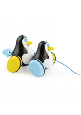Hans & Knut penguins pull toy