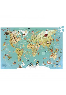 World Map (cardboard puzzle) - french version
