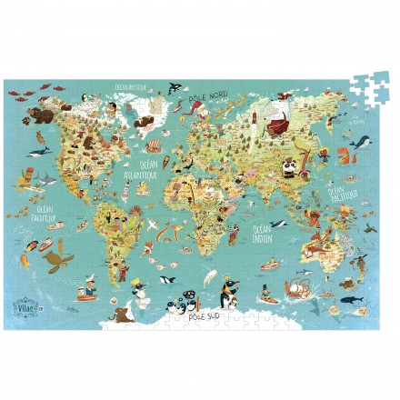World Map (cardboard puzzle) (French version)