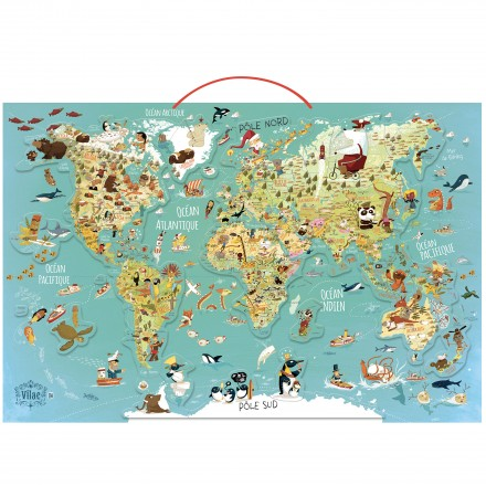 World magnetic map (French version)