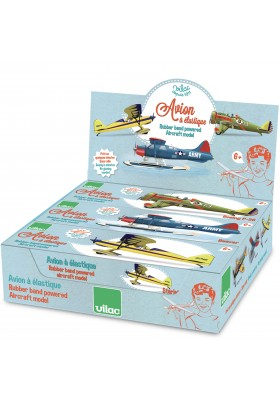 Display of 6 rubber band airplanes