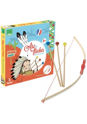 Bow & 3 arrows + target in box