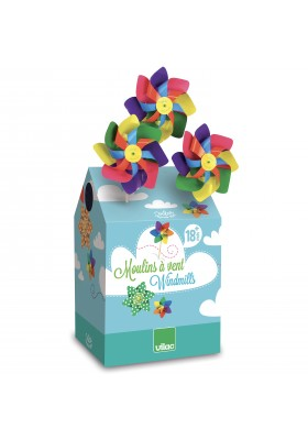 Pinwheels with dots display, 42 asst pcs