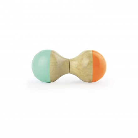 Mint and orange maracas