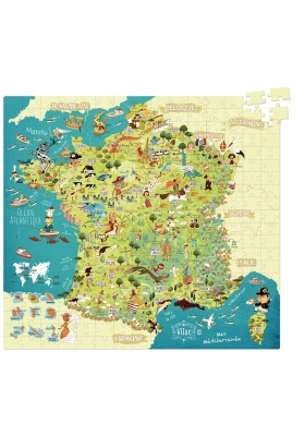 Map of France (cardboard puzzle) by Olivier Huette