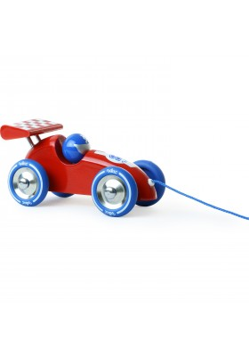 Red & Blue pull along racing car