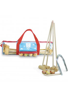 4 players junior croquet set with bag