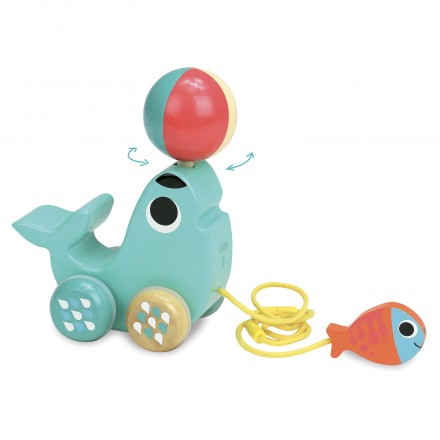 Sea lion pull toy