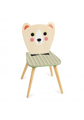 Bear chair with bow tie