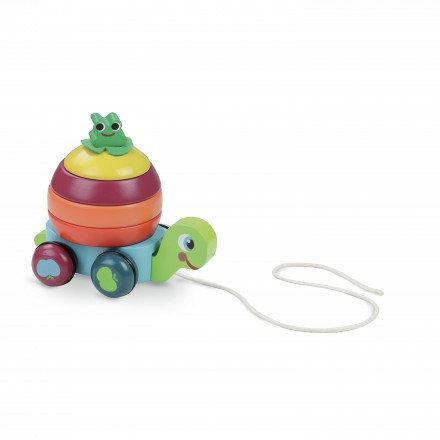 Turtle stacker pull toy