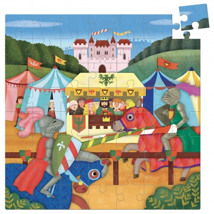 Middle ages 56 pcs cardboard puzzle