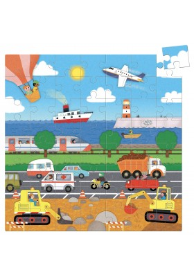 Transportation 56 pcs cardboard puzzle