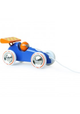 Blue & Orange pull along racing car