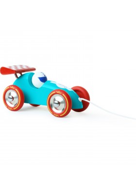 Turquoise & Red pull along racing car