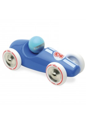 Large blue race car