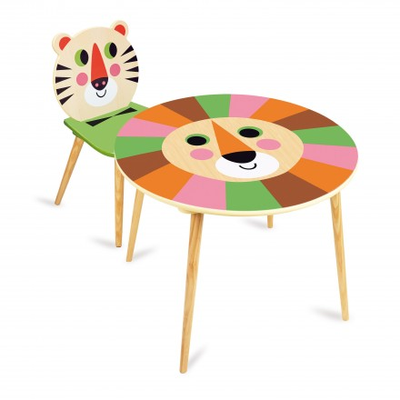 Lion table + Tiger chair