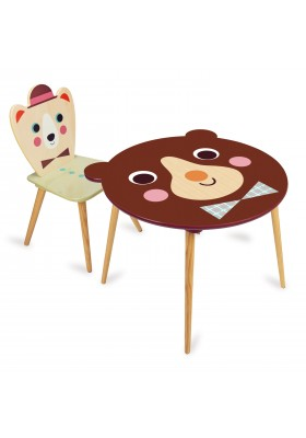 Bear table + Bear with a hat chair
