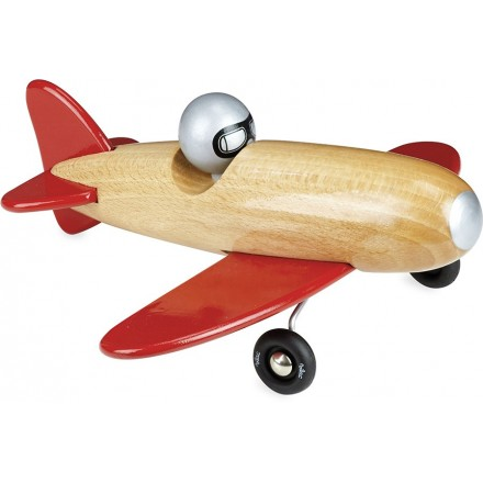 Aerobatic natural wood and red
