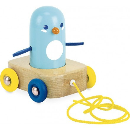 Penguin pull toy