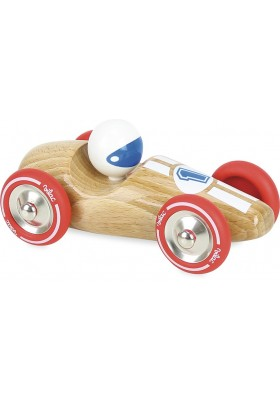 Natural wood large race car