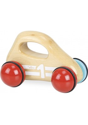 Natural wood baby car with handle