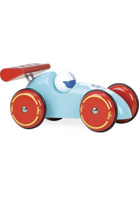Big racing car turquoise-red