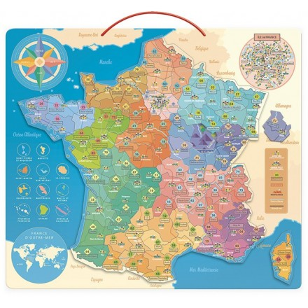 France educative map (Only in french)