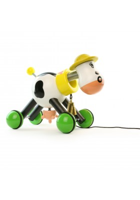Rosy the cow pull toy