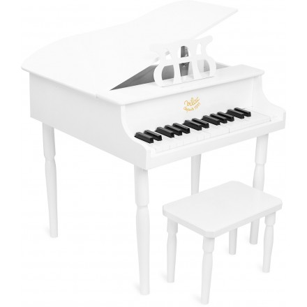 Grand piano à queue blanc