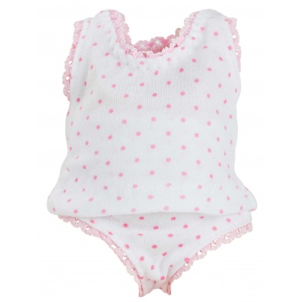 UNDERWEAR with pink dots for 28 or 48 cm doll