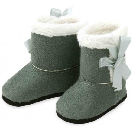 Grey and white boots for doll MINOUCHE 34 cm