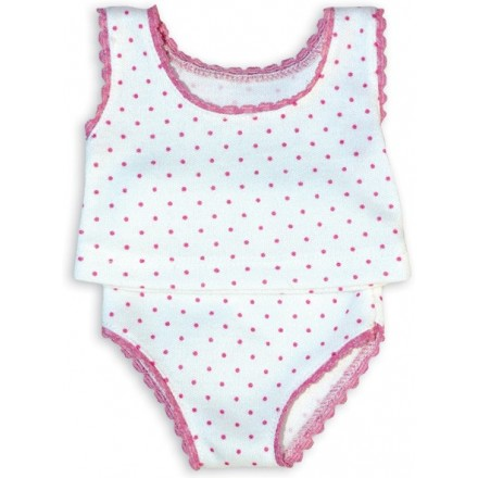 UNDERWEAR with pink dots for 36 / 39 / 40 cm doll