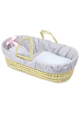 50 cm / 20'' doll moses basket, stars pattern