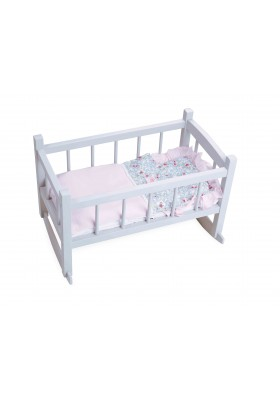 Grey lacquered bed for 40 cm doll