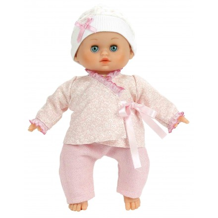 Baby doll Petit Câlin 28 cm, soft, Bonbon rose
