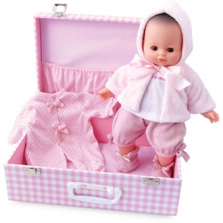 """Baby doll """"MY BABY LOVE"""" 36 cm / 14'' in suitcase"""