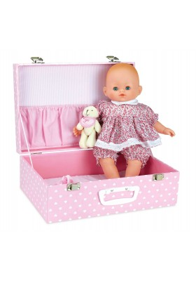 "Baby doll PETIT CÂLIN 36 cm / 14'' ""CAPUCINE"" in suitcase"