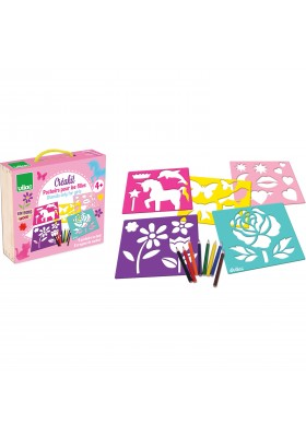 Girly stencils set