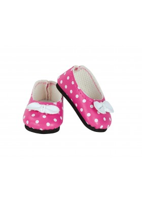 Pink ballerina with white dots for doll MINOUCHE 34 cm