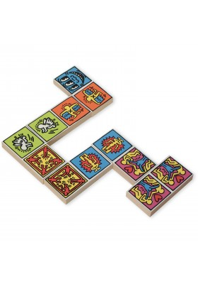 Keith Haring coloured dominoes