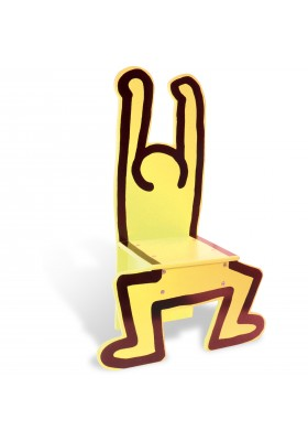 Keith Haring yellow chair