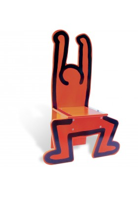 Chaise rouge Keith Haring