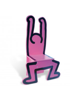 Chaise rose Keith Haring *