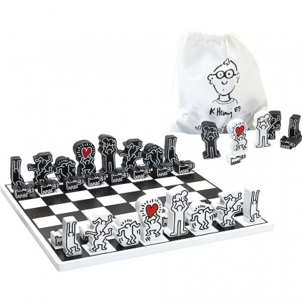 Keith Haring chess game