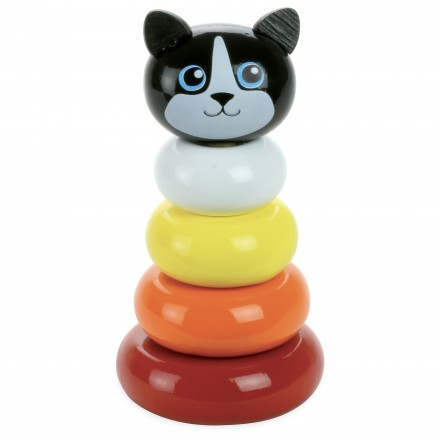 Minou cat stacking toy