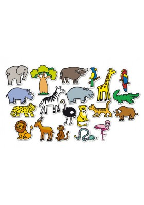 Magnets de la savane 20 pcs en bois *