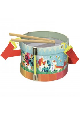 Woodland metal drum