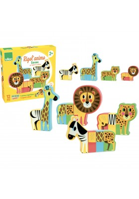 Magnetic savannah animals set by Ingela P. Arrhenius