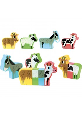 Magnetic farm animals set by Ingela P. Arrhenius