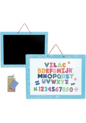 Magnetic Chalkboard + magnets
